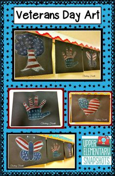 Veterans Day art idea.  Very simple, easy to do, and takes very few supplies.