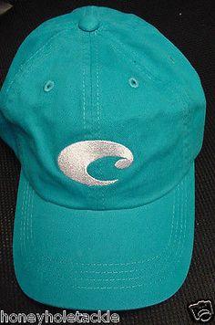 NEW COSTA DEL MAR TWILL ADJUSTABLE CAP HAT     BLUE