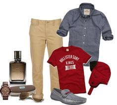 """""""Men's Hollister"""" by laaudra-rasco ❤ liked on Polyvore"""