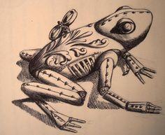 Steam Punk frog by eldonevangelista.deviantart.com on @deviantART