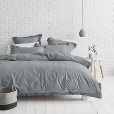 Canningvale Vintage Wash Quilt Cover Set Mid Grey King Was: $119.99 Now: $49.00 Expires on: 09-01-2017 12:00:00am AEST