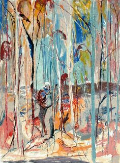 Shoalhaven Riverbank Trees 1 by Arthur Boyd Australian Artists, Art Painting, Arthur Boyd, Painting Illustration, Australian Art, Painting, Abstract Art, Abstract, Unusual Art