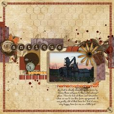 Temptations Volume 9. Are you looking for a fast and easy way to put a layout together?  Wendy's got the solution!  Simply use these templates with any kit for great results!  Inside you'll find 4 Unique Templates to delight you!  This set has been quality checked and is ready for you to create with. This kit is for S4O/S4H/PU/CU.    This LO was also created with Antiquities and Curiosities kit by True North Scraps at SNP
