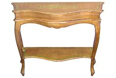 One Kings Lane - Gilded & Glittering - 1950s   Florentine Console