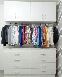 Nosso mini closet do jeito que sempre sonhamos. ❤