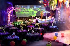 Willy Wonka ball theme - by Kate Wilson Events - 61618394 Sweet 16 Decorations, Ball Decorations, Quince Decorations, Candy Centerpieces, Wedding Centerpieces, Quinceanera Centerpieces, Willy Wonka, Roald Dahl, Chocolates