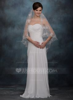 Wedding Veils - $53.99 - One-tier Cathedral Bridal Veils With Scalloped Edge (006005412) http://jjshouse.com/One-Tier-Cathedral-Bridal-Veils-With-Scalloped-Edge-006005412-g5412