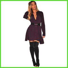 YJSFG HOUSE New Womens Plaid Dresses Button Up Tops Casual Checks Long Sleeve Autumn Blouse Shirt Dress Sashes Plus Size 3XL yOP
