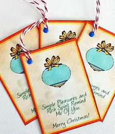 Holiday Ornament Gift Tag by wildabouttags on Etsy, $3.50