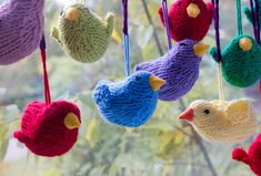 One  Bird Christmas Ornament  Knit  Holiday Ornament by beadedwire