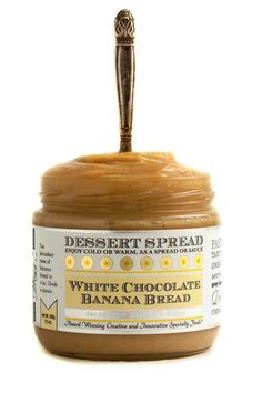 White Chocolate Banana Bread Dessert Spread by Wozz! Kitchen Creations.  Tastes like banana bread in a jar! Use just like you would Nutella!  Spread on your morning toast  or just grab a spoon!