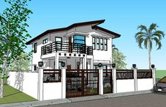House Plan Purchase - Sets of Plan Blueprint Signed & Sealed) - Only Construction Contract: P M - Low-End/Budget P M - Mid-Range/Standard. House Front Wall Design, Simple House Design, Modern House Design, Contemporary Design, Construction Contract, New Home Construction, Style At Home, Architectural House Plans, Home Design Plans