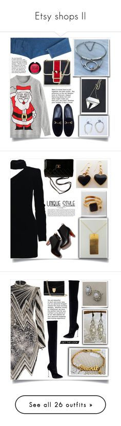 """""""Etsy shops II"""" by samra-bv ❤ liked on Polyvore featuring Tommy Hilfiger, Gucci, MAKE UP FOR EVER, jewelry, polyvorecommunity, handmade, Yves Saint Laurent, Chanel, polyvorefashion and As Is"""