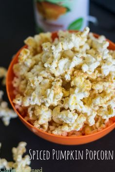 Spiced Pumpkin Popcorn -- perfect for the fall!