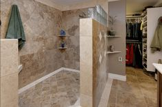 i actually would love a shower without doors! :)