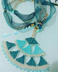 Tassel Necklace, Turquoise Necklace, Crochet Necklace, Point Lace, Needle Lace, Couture, Diy And Crafts, Crochet Patterns, Jewelry Design