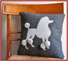 Want the Poodle Pillow!