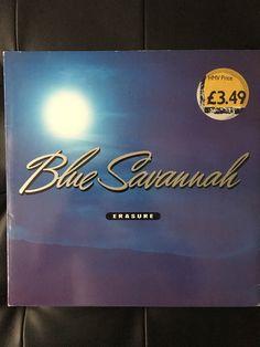 "Erasure Blue Savannha Original Vinyl 12"" Single 1990 by NicholasAllSorts on Etsy https://www.etsy.com/uk/listing/498904008/erasure-blue-savannha-original-vinyl-12"