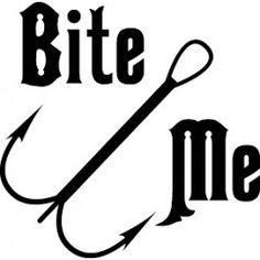 Bite Me Fishing Decal #2