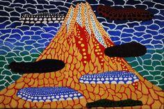 草間彌生 アクリル 肉筆 画題 「富岳」 1989年  _画像2