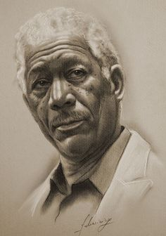 Morgan Freeman….Pencil art by Dumage