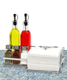 Look what I found on #zulily! Condiment Bottle Set by Home Collections #zulilyfinds