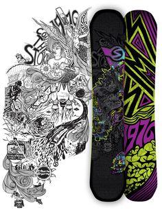2012-2013 Sims Quest - Snowboard Design by Laura Kottlowski,