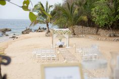 Trendy ceremony setup for your beach wedding destination #Wedding #DestinationWedding #LasCaletas