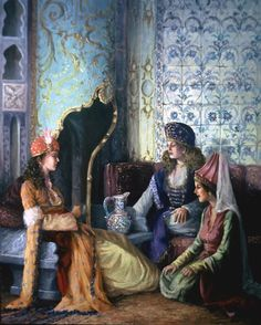 by kamil aslanger Arabian Art, Bagdad, Turkish Art, Arabian Nights, Beautiful Girl Image, Ottoman Empire, Arabesque, Ancient Art, Islamic Art