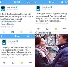 John Green about The Fault in Our Stars