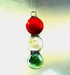 Christmas Glass Tree Ornament Pendant by GothicGlassStudio on Etsy, $15.00