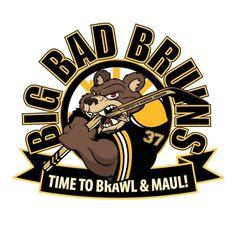 Time to brawl and maul. Ice Hockey Teams, Hockey Mom, Funny Hockey, Boston Sports, Boston Red Sox, Boston Bruins Hockey, Nhl Logos, New England Patriots Football, Bears