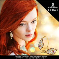 #JewelleryTip 6: #Gold #Jewellery enhances the hair colour for ladies with Auburn or red-tinted hair. On the other hand, #WhiteGold or #RoseGold #Jewellery looks extremely elegant on Brunettes and Black coloured hair. Make your hair colour be #TrueToYou with your #Jewellery.