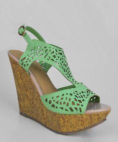 Mint Derna Platform Sandal #zulily #zulilyfinds