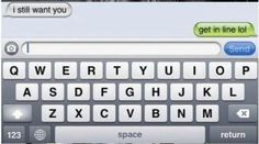 Point them to the line: | 22 Perfect Ways To Respond To A Text From Your Ex THESE ARE SOOOOOOO FUNNY
