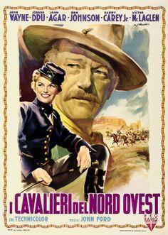 SHE WORE A YELLOW RIBBON (1949) - John Wayne - Joanne Dru - John Agar - Ben Johnson - Harry Carey Jr. - Directed by John Ford - RKO Radio - Movie Poster.