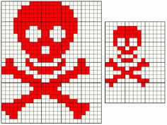 Skull knitting patterns