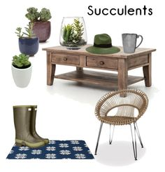 """succulent greens"" by owen-996 ❤ liked on Polyvore featuring interior, interiors, interior design, home, home decor, interior decorating, Juliska, Threshold, Sensi Studio and plants"