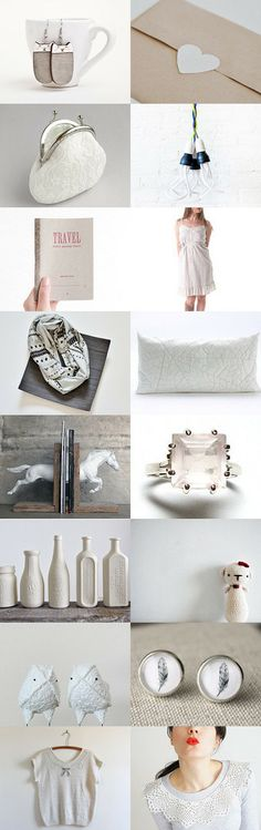 Just White by Eda Atay on Etsy--Pinned with TreasuryPin.com