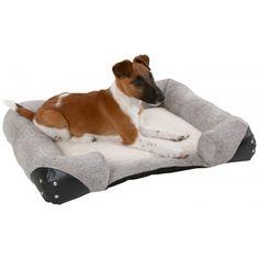 Pet Bed Carlo 100x65cm Self-Warming Grey CanAgri