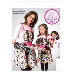 "Kwik-Sew K124 Sew Patterns 18"""" Doll Clothing & Apron"