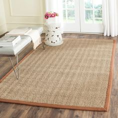 "Bay Isle Home Belhaven Natural/Brown Rug Rug Size: Runner 2'6"" x 18'"