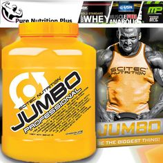 NEW SCITEC NUTRITION JUMBO PROFESSIONAL PROTEIN WEIGHT GAINER CREATINE BCAA 's