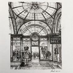 The Nicholas Building Australia. Visual Diary Ballpoint Pen Architectural Urban Sketches. By Julia Schmitt.