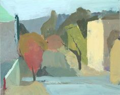 "Ken Kewley: ""Looking South, 5th St, Easton, PA"" Oil on board 8 x 10 inches @ Thomas Deans Fine Art, Atlanta"