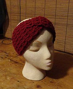 Free twisted turban type headband Pattern from Lulu Bebebeblu