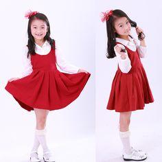 $19.82 (Buy here: https://alitems.com/g/1e8d114494ebda23ff8b16525dc3e8/?i=5&ulp=https%3A%2F%2Fwww.aliexpress.com%2Fitem%2FGirl-Fashion-turn-down-collar-Red-Navy-Blue-dress-autumn-long-sleeve-girl-party-princess-dress%2F32561045121.html ) Girl Fashion turn down collar Red Navy Blue dress autumn long sleeve girl party princess dress kids clothes free shipping for just $19.82