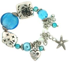 Murano Glass Blue Bracelet Charm Metal Bead Heart Pearl Crystal By Bucasi Bucasi. $14.95. Murano Glass Brilliant Blue Bracelet. Lead Free and Nichel Free. Unique Gift & Price. Eye Catching Shapes, Sizes of Stones, Glass, Freshwater Pearl, Charms. Bracelet Features Metal Heart, Starfish and more. Save 70% Off!