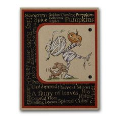 Halloween Mummy Pumpkin Card