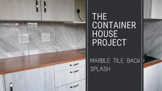 Marble Tile Back Splash - Small Scale Engineering Marble Tiles, Fiber Cement Board, Interior Cladding, Adhesive Tiles, Tile Installation, Home Projects, Backsplash, Solid Wood